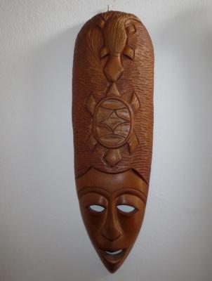 č.1196 maska dřevěná