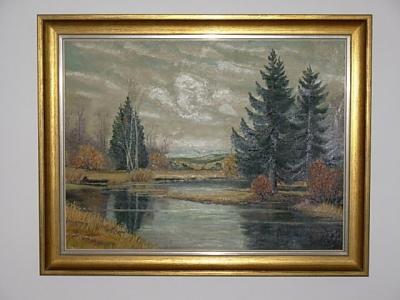 č.1195 obraz olej 92x74 cm