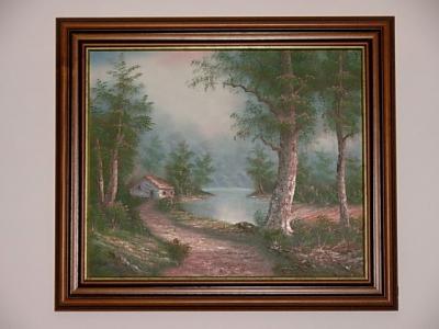 č.1143 obraz olej 73x63 cm