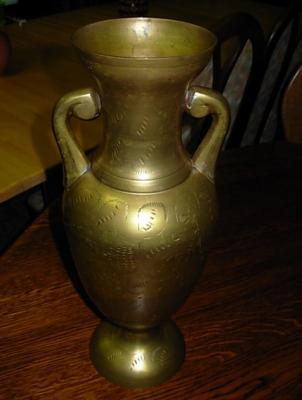 č.308 váza mosazná