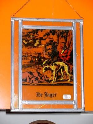 č.628 obrázek vitráž 23x29 cm