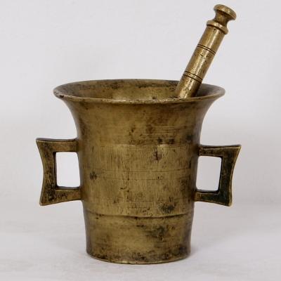 č.1748 hmoždíř mosazný starožitný