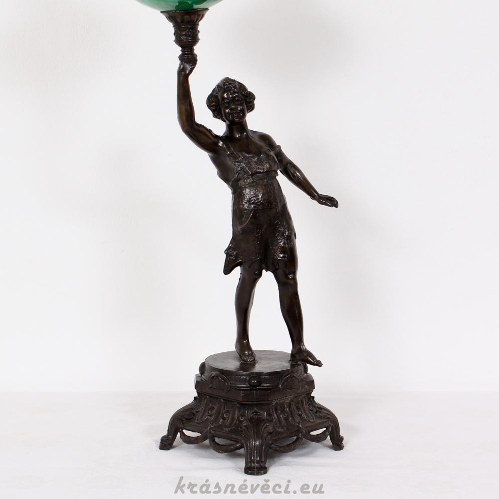 č.1398 lampa stolní petrolejová