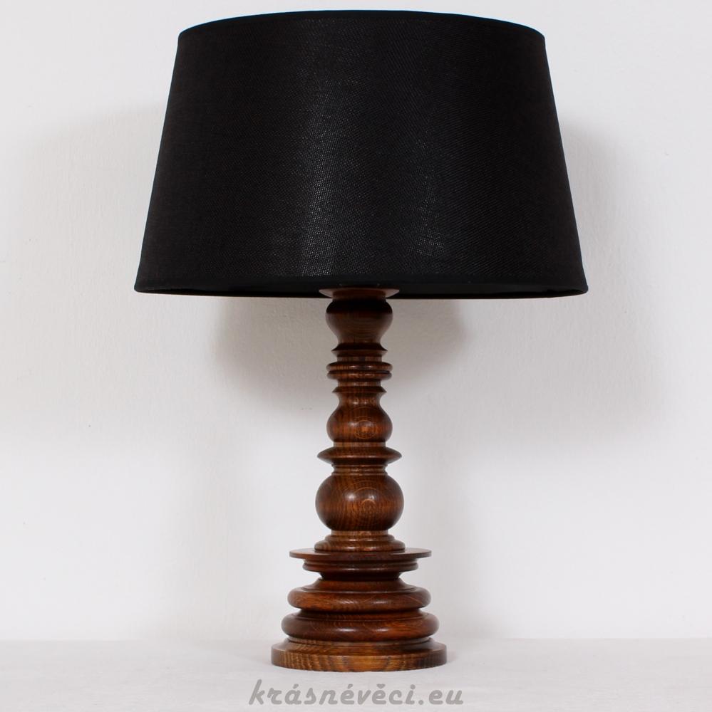 č.80 lampa stolní dubová v 48 cm