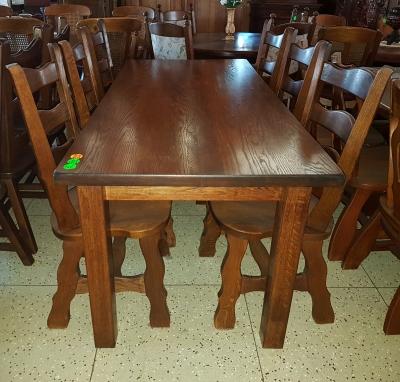 č.1919  kuchyňský SET MASIV DUB  stůl 180x83 cm + 6 ks židlí