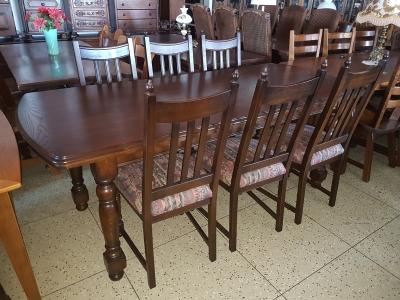 č.688 kuchyňský SET STYLOVÝ stůl 211x91 cm + 6 ks židlí