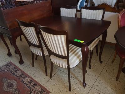 č.522 kuchyňský SET ROZKLÁDACÍ stůl 130x79, 170x79 cm + 4 ks židlí